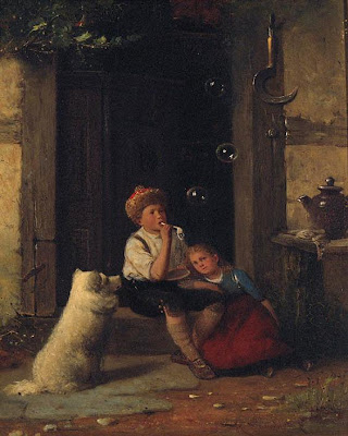 A.Leineweber Blowing Bubbles in Painting