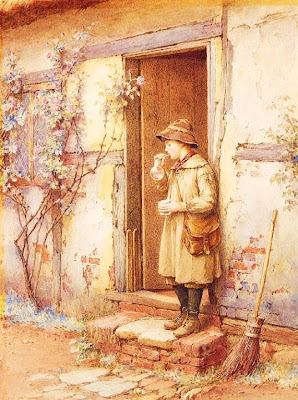 Blowing Bubbles in Painting Charles Edward Wilson British Artist