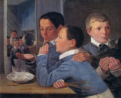 Blowing Bubbles in Painting A.Ivanov Russian Artist