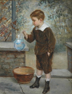 Blowing Bubbles in Painting Albert Roosenboom