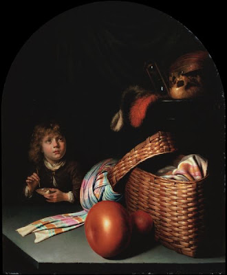 Bubble Painting in Vanitas Homo Bulla Gerard Dou, Still Life with a Boy Blowing Soap-bubbles