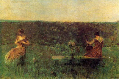Figurative Paintings by Thomas Wilmer Dewing American Tonalist Artist
