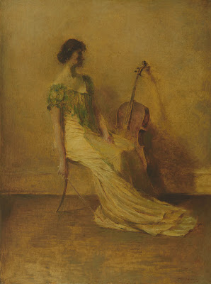 Painting by Thomas Wilmer Dewing American Tonalist Artist