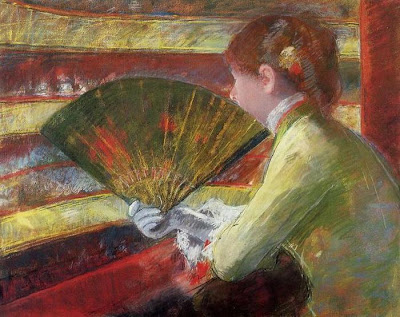 Fan in Painting Mary Cassatt. In Theater