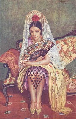 Fan in Painting George Owen Wynne Apperley