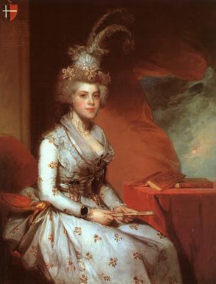Fan in Painting Gilbert Stuart. Matilda Stoughton de Jaudenes y Nebot