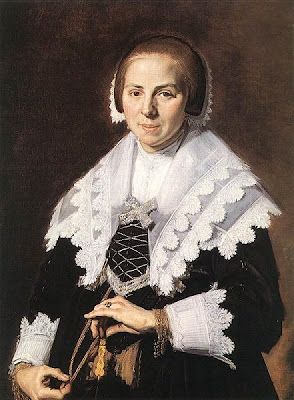 Fan in Painting A Woman holding a Fan , ca. 1640 by Frans Halls