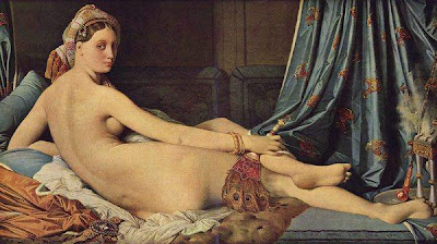 Fan in Painting Jean Auguste Dominique Ingres, Odalisque 1814