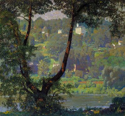 Landscape Painting by American Artist Daniel Garber