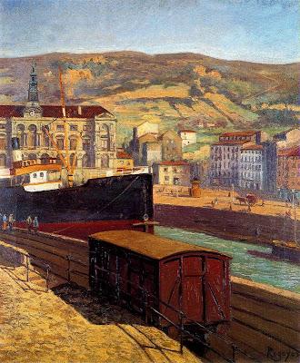 Painting by Spanish Artist Dario de Regoyos y Valdes