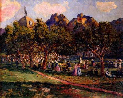 Landscape Painting by Spanish Artist Dario de Regoyos y Valdes