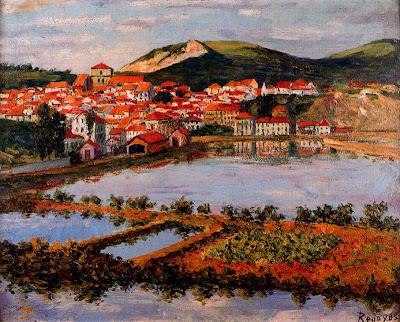 Landscape Painting by Dario de Regoyos y Valdes Spanish Artist