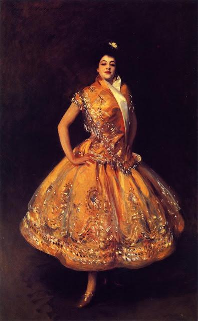 Painting by American artist John Singer Sargent. La Carmencita 1890