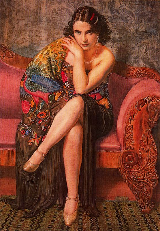 Women in Painting,George Owen Wynne Apperley, figurative oil painting, portrait painting