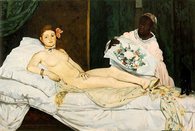 Painting by Edouard Manet Olympia, 1863