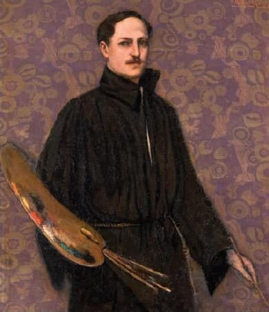 Art Deco Painting by Federico Beltrán Masses Spanish Artist