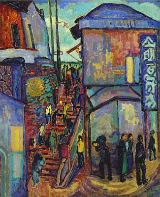 Oil Painting by American Post-Impressionist Artist Jerome Blum
