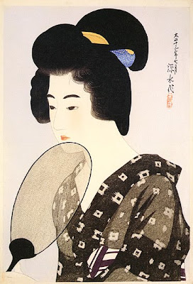 Ito Shinsui Japanese Ukiyo-e Prints Ladies with Fan