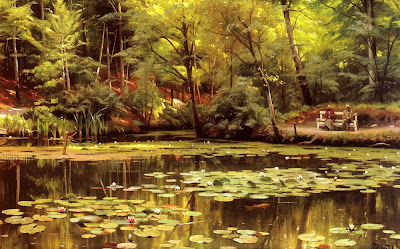 Landscape Painting by Danish Artist Peder Monsted