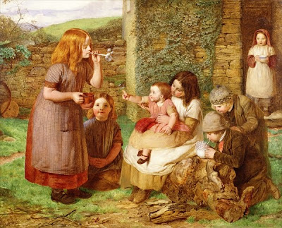 Children in Painting by British Artist John Dawson Watson
