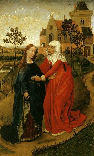 Annunciation Triptych by Belgian Renaissance Painter Rogier van der Weyden