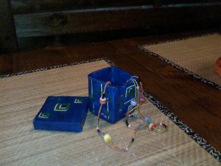 Caseta Bijuterii modelata si pictata manual L08 - 25 Ron