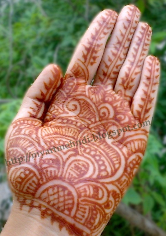 Mehndi Designs For Palms Easy : Mehndidesigns simple mehndi design for palm