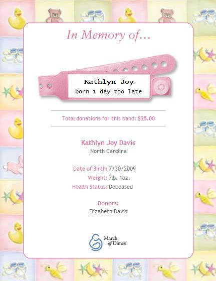 Click to donate in Kathlyn's Memory