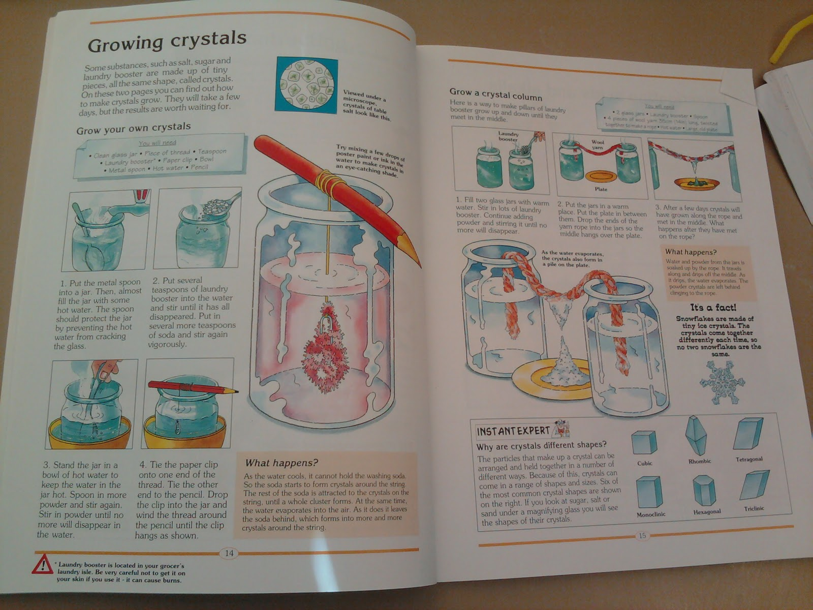 Mama Know Best: Borax Crystal Snowflake Project