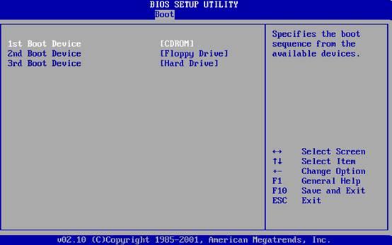 windows 7 bios setting operating system
