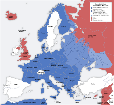 Map Of Europe Under Hitler