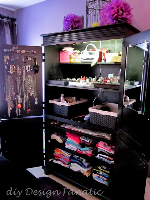 organization, armoire, diy, diy design fanatic, jewelry organization, repurposed