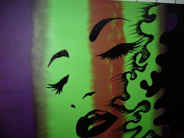 quadro abstrato pintado a oleo
