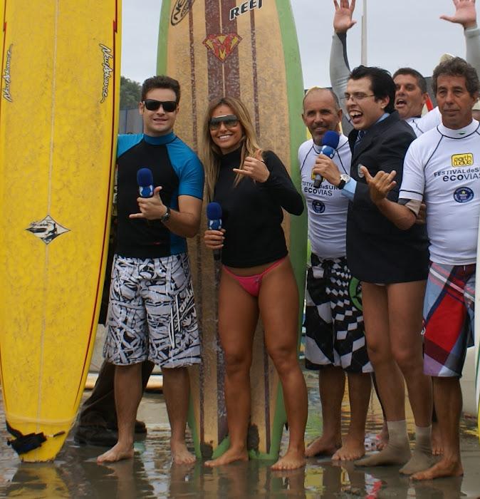 Campeonato de Surf em Santos  com a Turma Do Pánico