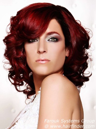 Auburn brown red hair