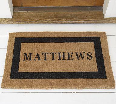 Diy Monogrammed Door Mat Our Suburban Cottage