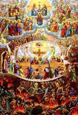 Heaven, Purgartoy, Earth, and Hell