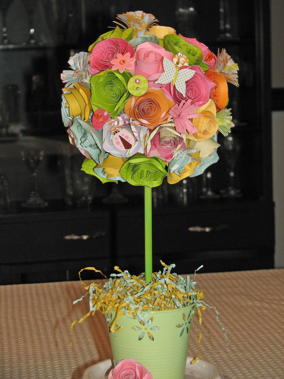 Spring Paper Flower Topiary The Craft Bunny