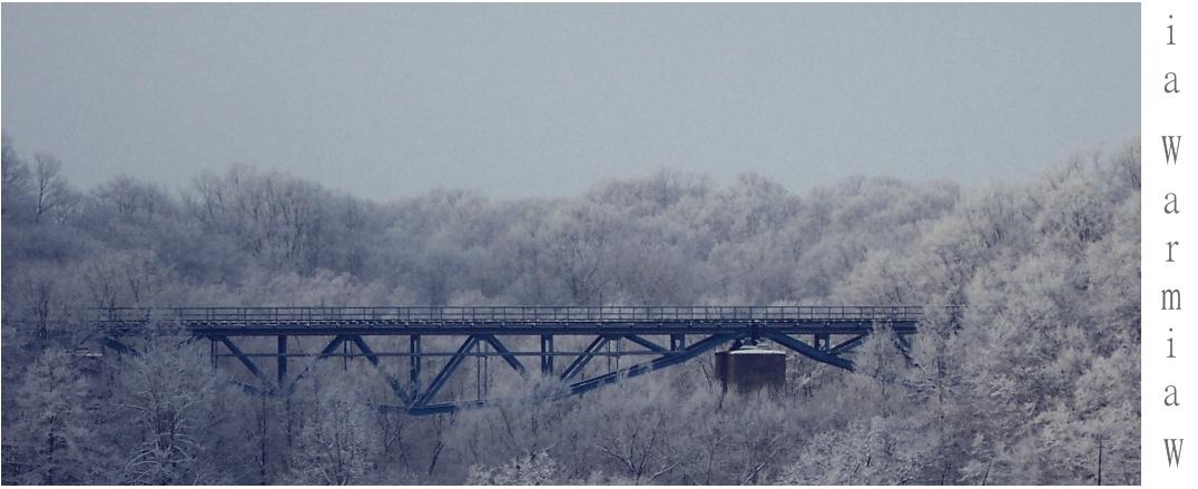 Pieniężno. Most kolejowy nad Wałszą