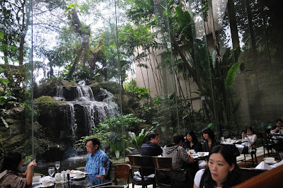 The Dining Room Sits On A Squarish Plot Of Land Ground Floor Sheraton Towers And It Is Flanked By Waterfalls Ponds Two Sides