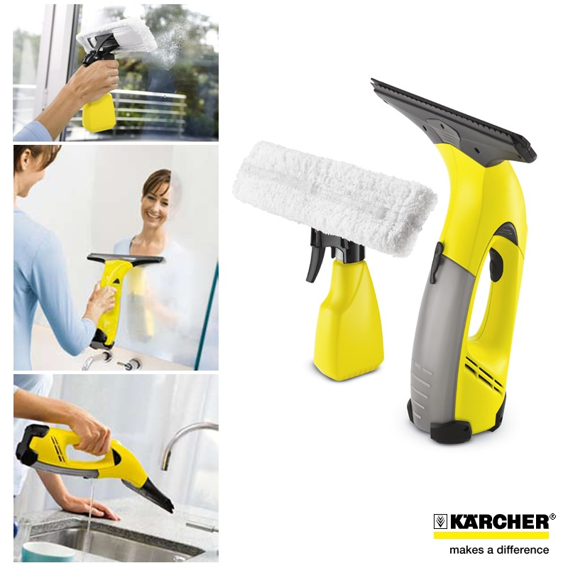 Window cleaning karcher wv50 plus window cleaning vacuum for Window karcher