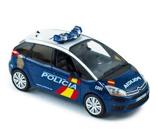 Miniatura del Citroën C4 Grand Picasso de la policía nacional