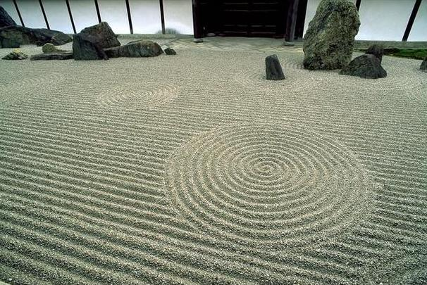 japanese zen gardens dry landscape gardens yoga for the mind. Black Bedroom Furniture Sets. Home Design Ideas