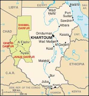 Dafur Sudan Map