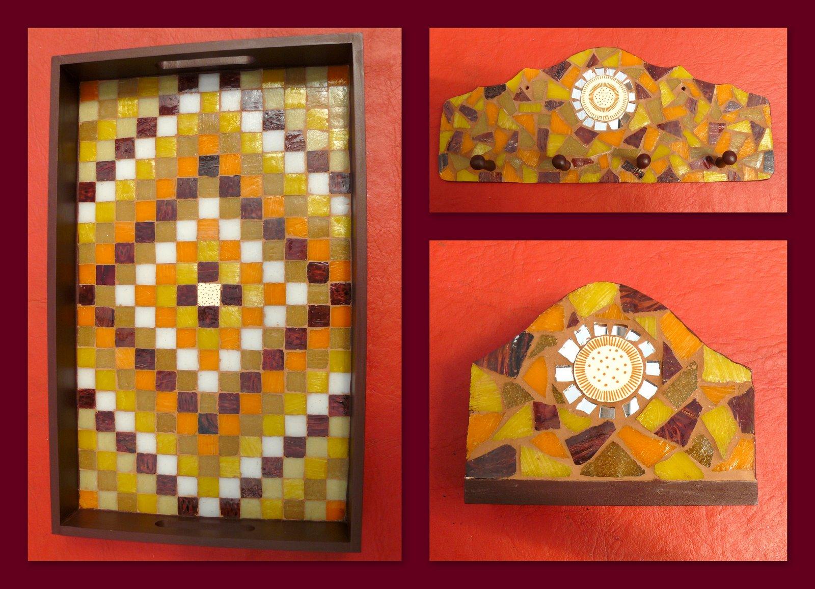 Pin espejos hechos a mano con mosaicos de ceramica y nacar - Espejos de ceramica ...