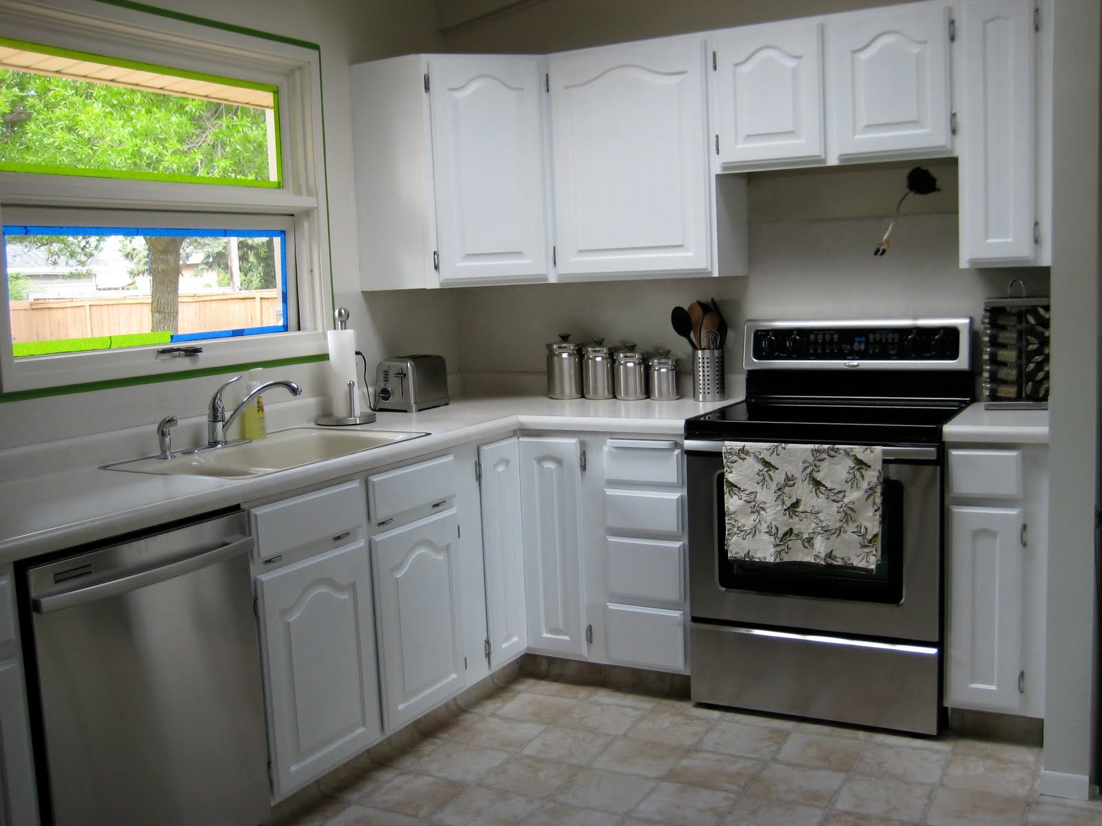 Very fine house kitchen cabinet makeover for Behr white paint for kitchen cabinets