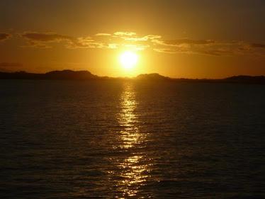 ¡Qué linda puesta del Sol cálido, caracteristíco del estado!