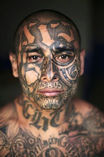 Gang Tattoos Especially Face Gangsta Tattoo Designs With Image Men With Face Gang Prison Tattoo Picture 1