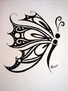 Tribal Butterfly Tattoo Design Picture 1