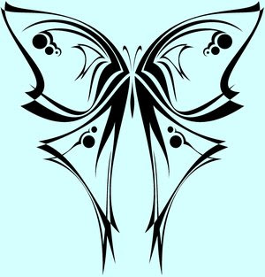 Tribal Butterfly Tattoo Design Picture 2